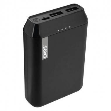 Powerbank EMOS Alpha 10, 10000 mAh, čierny + kabel USB-C